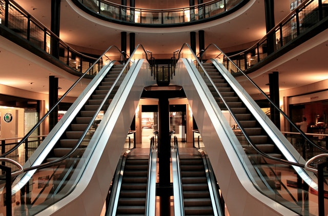 escalator stairs metal segments architecture 54581 - Commercial Second Mortgage